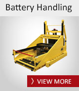 Forklift Battery Handling - Battery Pullers, Battery Racking