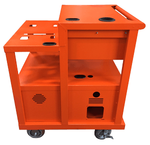 dc battery operated mobile computer cart