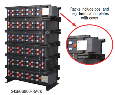 agm VRLA seismic battery rack