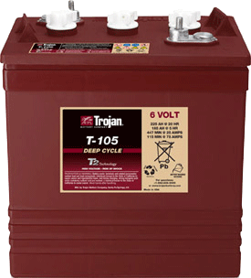 Trojan t-105 battery for marine and recreational vehicles