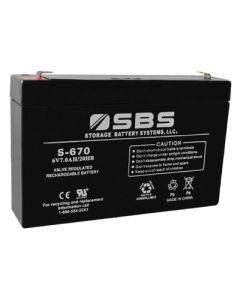 SBS-670 6V Battery