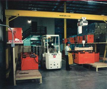 battery lifting crane