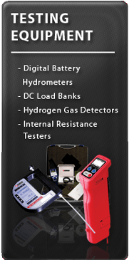 Stationary battery testing equipment