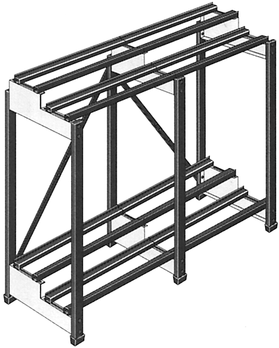 two-step two-tier rack