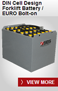 SBS Battery: DIN Cell Design Forklift Battery / EURO Bolt-on