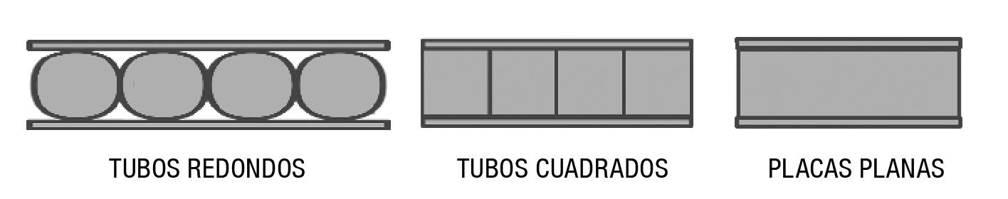tubos redondos y placas planas