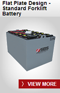 SBS Battery: Flat Plate Design - Standard Forklift Battery