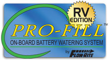 Pro-Fill battery watering for recreational vehicles