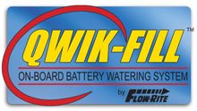 Qwik-Fill on-board battery watering system for group 24 - 27 12V marine deep cycle batteries