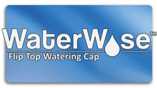 Flip top battery watering cap for automatic watering guns
