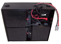 8 volt battery pack with reduced number of connections