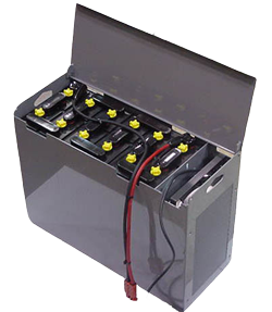 motive power battery pack with charger