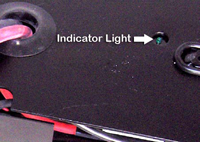 indicator light for charging battery pack