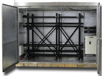 battery cabinet with racking