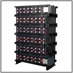 GEL series battery systems for emergency lighting applications