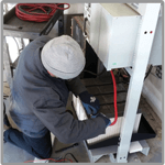 Battery service and maintenance for industrial power applications