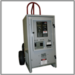 Battery maintenance chargers for industrial power applications