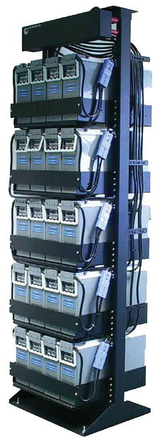 pre-wired battery racks