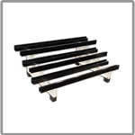 Battery racks for railway applications