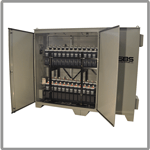 Battery system enclosures for railway applications