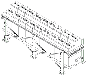 Seismic Battery Rack Drawing