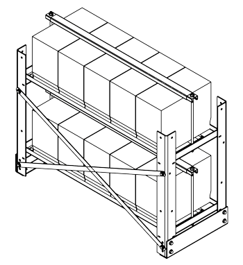 Vrla Battery Rack Configuration Vr 2t5w Z4 With Hold Down Bars