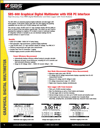 data sheet for Storage Battery Systems' SBS-600 multimeter