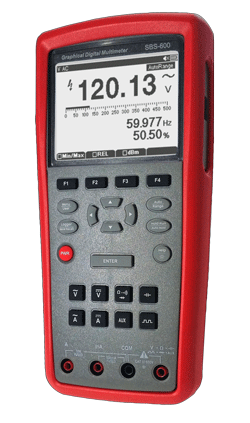 Graphical digital multimeter and data logger with USB PC interface