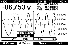 multimeter scope wave form screen shot