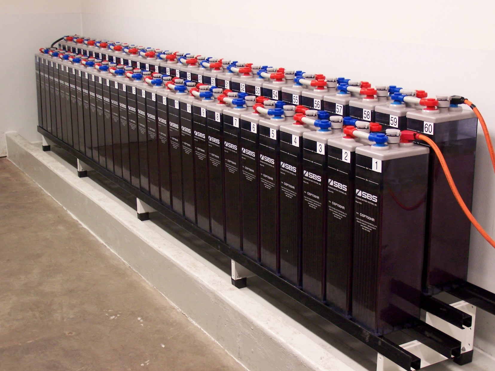 Battery Banks, Critical Power, OPzS Battery Bank, Substation Battery Bank, Utility Battery Bank, H2 - Hydrogen Detector